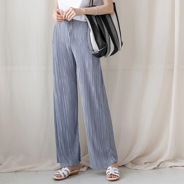 misscandy-[no.20822 밴딩&스트링 와이드핏 플리츠팬츠]♡韓國女裝褲
