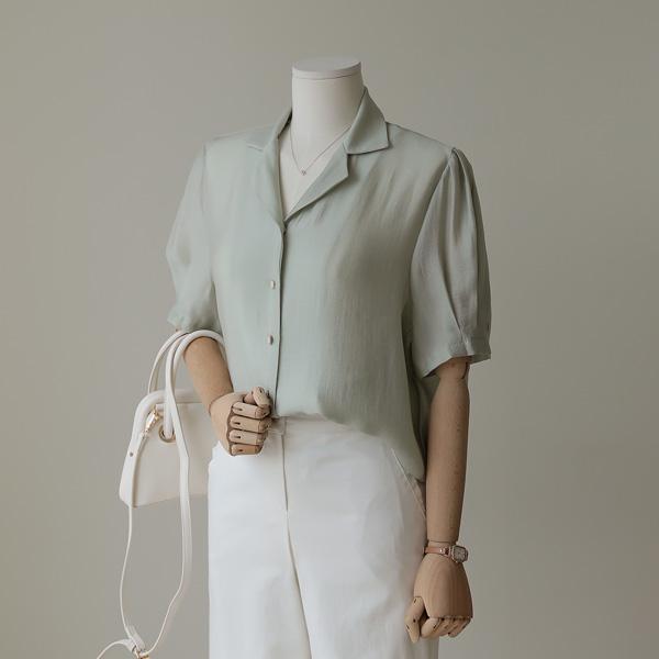 mariangplus-[P] 로이딘 퍼프 블라우스 P_T609♡韓國女裝上衣
