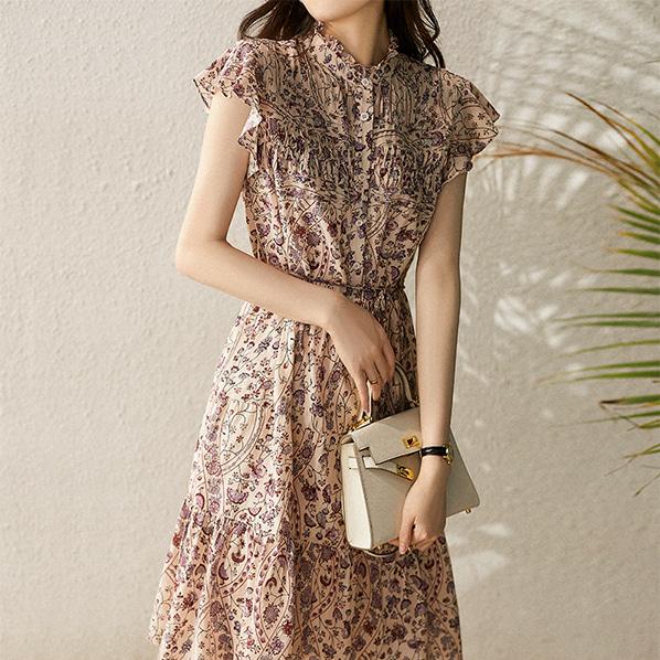 fashion-full-미벨 스트랩 플라워 나시 원피스(TIME SALE 20%)♡韓國女裝連身裙