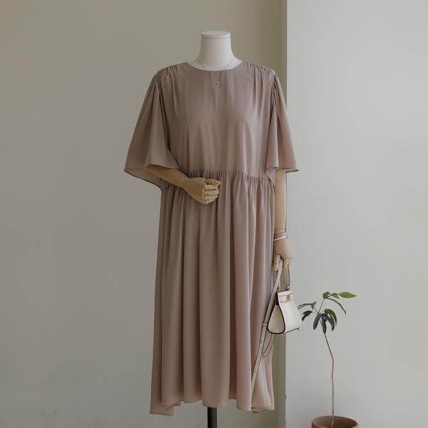 mariangplus-[P] 플리나 셔링 원피스 P_D4463♡韓國女裝連身裙