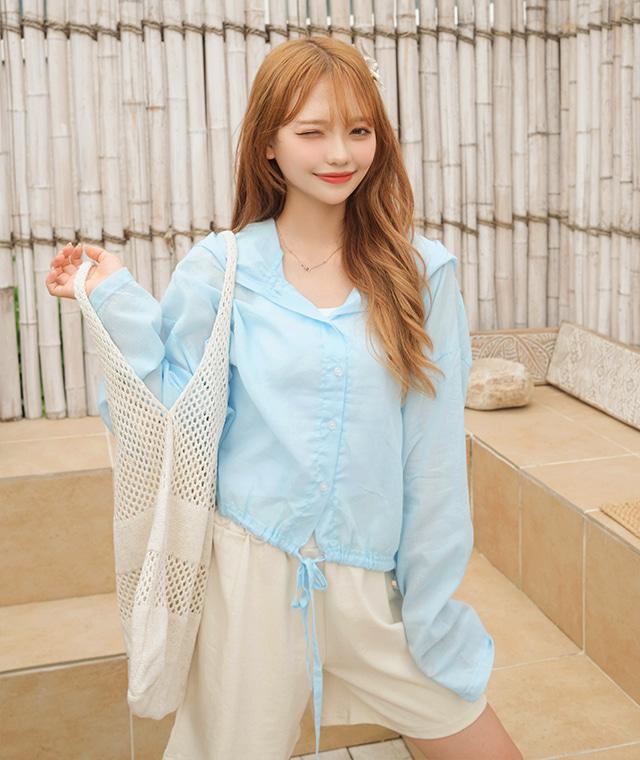 kikiko-씬후드남방♡韓國女裝上衣