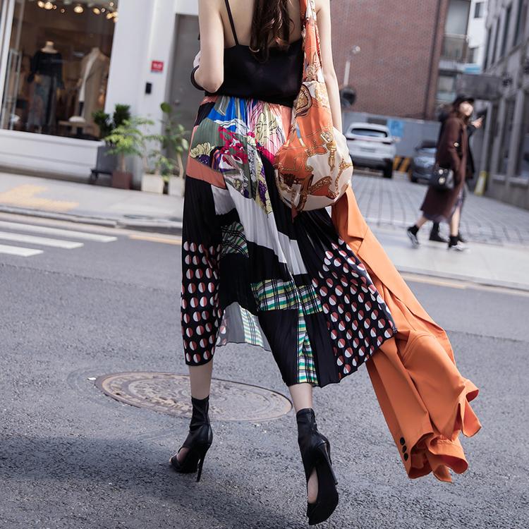 dint-[SK1864 믹스 패턴 유니크 플리츠 스커트*앞,뒤 착용가능*(157th REORDER)]Document♡韓國女裝裙