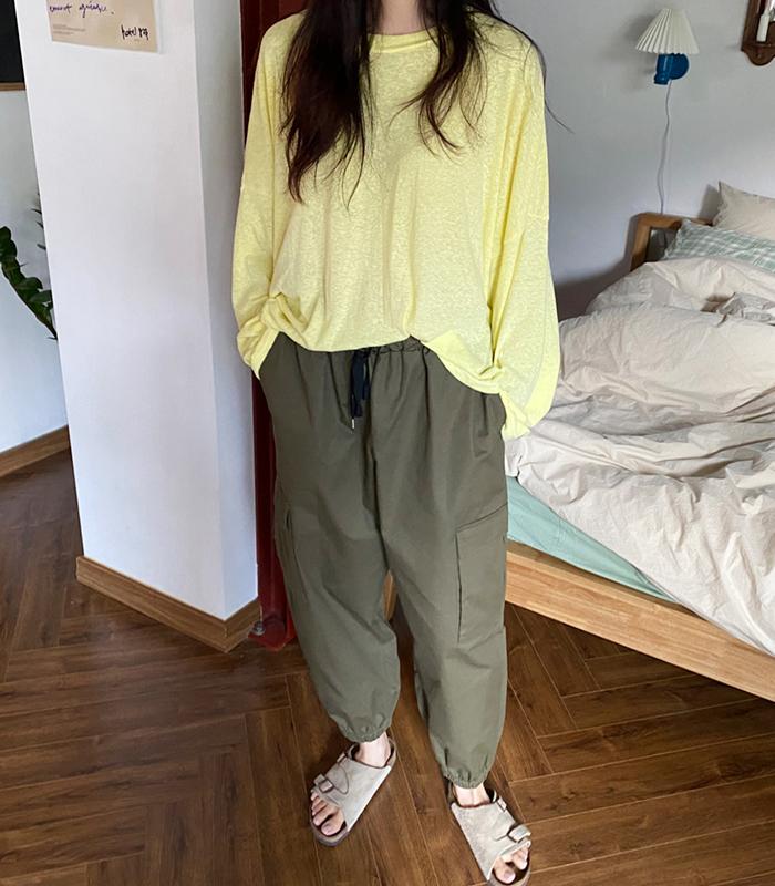 sibuya-[시나몬  슬럽 와이드 TEE]♡韓國女裝上衣