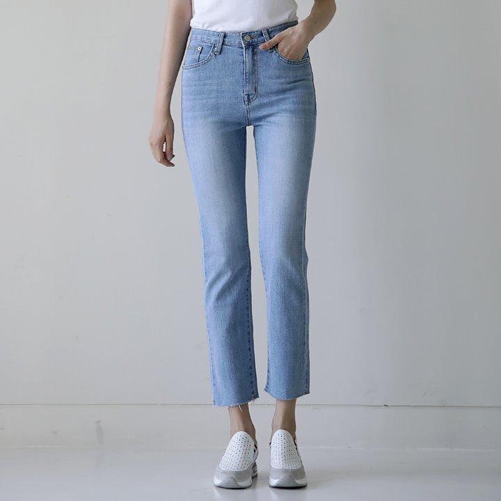 lemite-썸머쿨 데님팬츠(쿨데님)♡韓國女裝褲