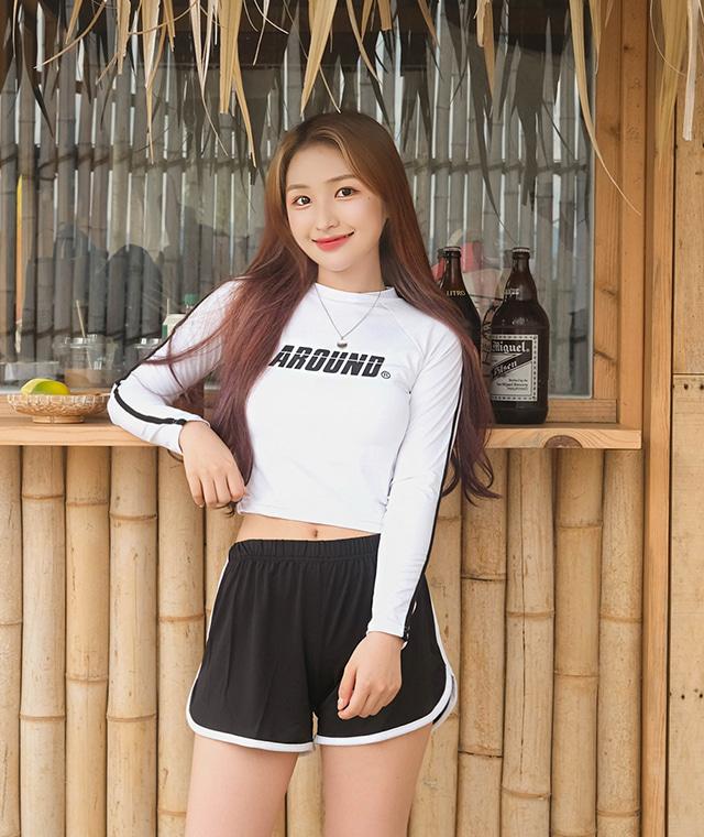 kikiko-어라운드숏래쉬가드♡韓國女裝上衣