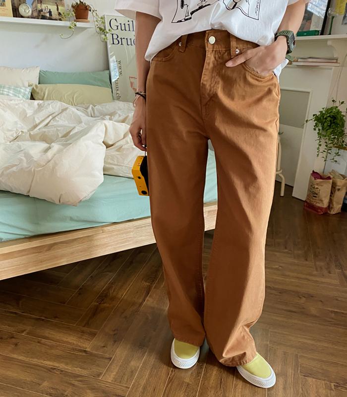 sibuya-[와이드 맥시 코튼 팬츠]♡韓國女裝褲