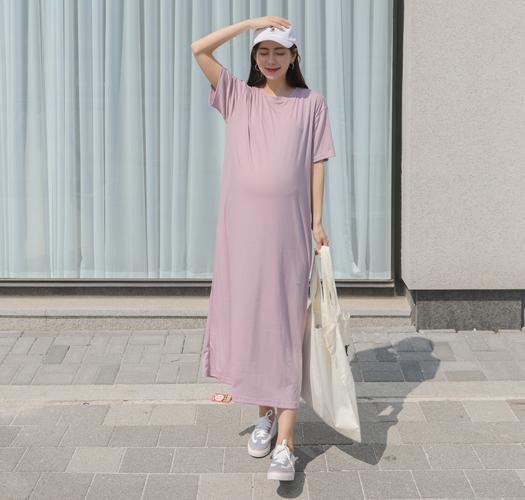 soim-[임부복*꾸안꾸데일리반팔 임산부원피스]♡韓國孕婦裝連身裙