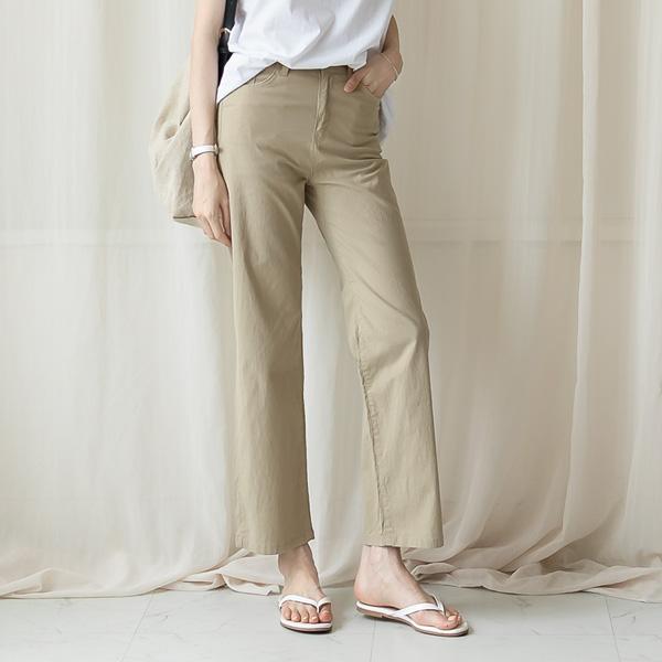 misscandy-[no.20819 세미와이드핏 뒷밴딩 썸머 쿨팬츠]♡韓國女裝褲