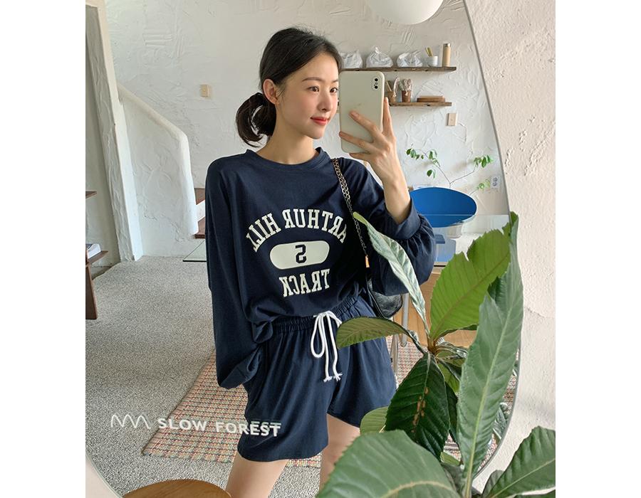 frombeginning-트랙맨투맨&쇼츠SET (4color)♡韓國女裝褲