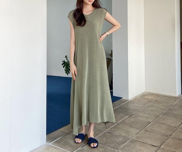 DailyN-루시드 이중나시 플레어 롱 원피스♡韓國女裝連身裙