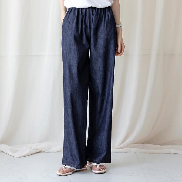 misscandy-[no.20820 워싱데님 세미와이드핏 데님팬츠]♡韓國女裝褲