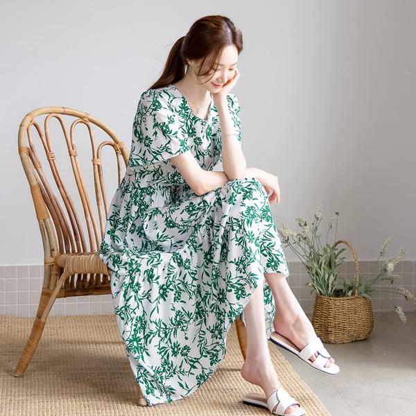 misscandy-[no.20815 날개소매 셔링캉캉 플라워원피스]♡韓國女裝連身裙