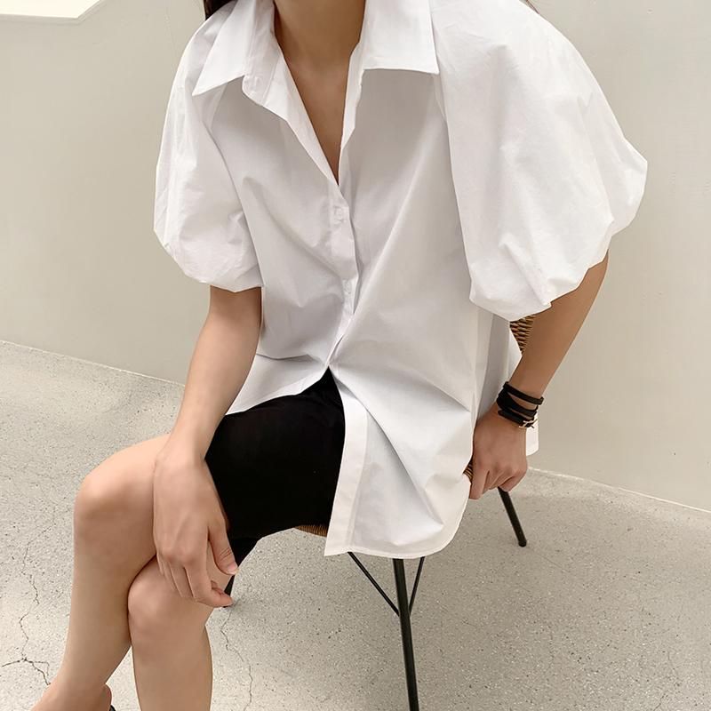 45th-퍼프반팔셔츠 ♡韓國女裝上衣