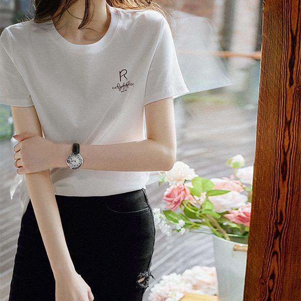 fashion-full-투고 언발런스 슬릿 티셔츠(TIME SALE 20%)♡韓國女裝上衣