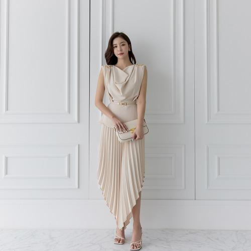 marlangrouge-알린언발플리츠스커트♡韓國女裝裙