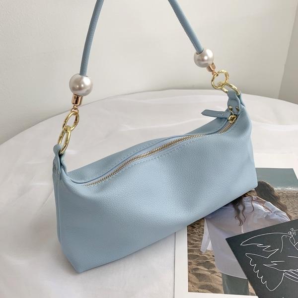 everytail-진주 바게트 숄더백 (3color)♡韓國女裝袋