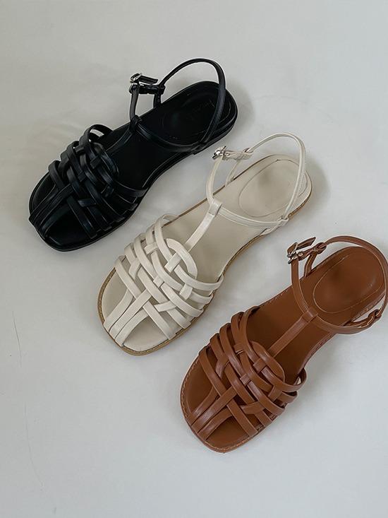 韓國merryaround編織包頭涼鞋