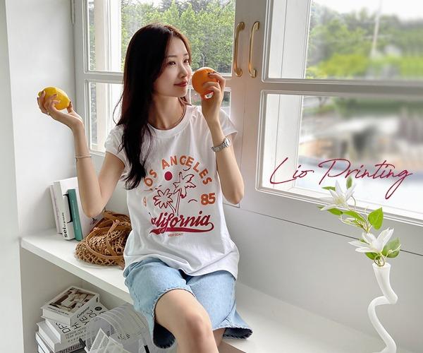 DailyN-리오 프린팅 캡나시 티셔츠♡韓國女裝上衣
