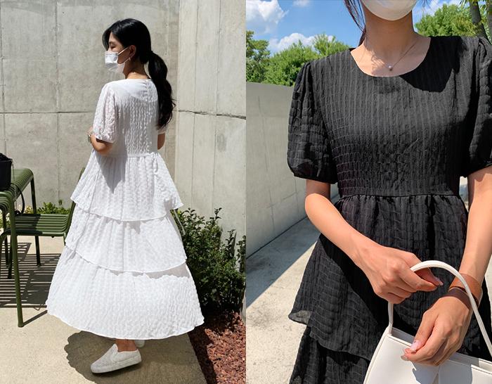 ssunny-[와플 캉캉스커트 원피스]♡韓國女裝連身裙