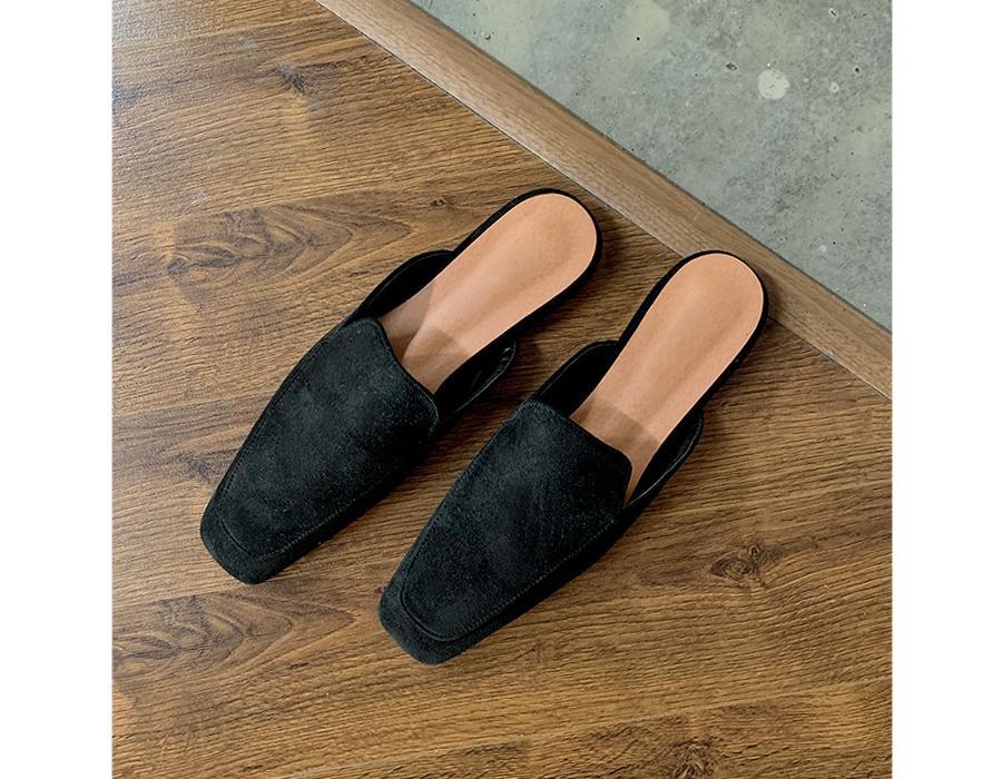 frombeginning-샤프스퀘어 플랫블로퍼 (4color)♡韓國女裝鞋