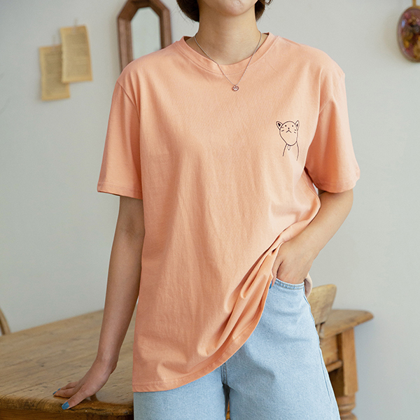 canmart-[네꼬반팔티셔츠 C080530]♡韓國女裝上衣
