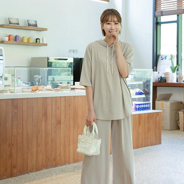 canmart-[메시후드반팔세트 C080531]♡韓國女裝套裝