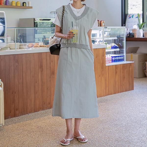 canmart-[리우조끼치마세트 C080513]♡韓國女裝套裝