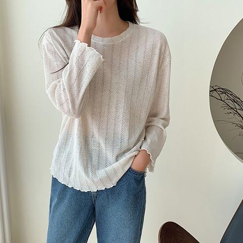 dodry-NN18033 블루밍 니트 티셔츠♡韓國女裝上衣