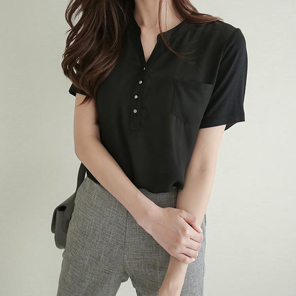 canmart-[레이포켓블라우스 MA04231]♡韓國女裝上衣