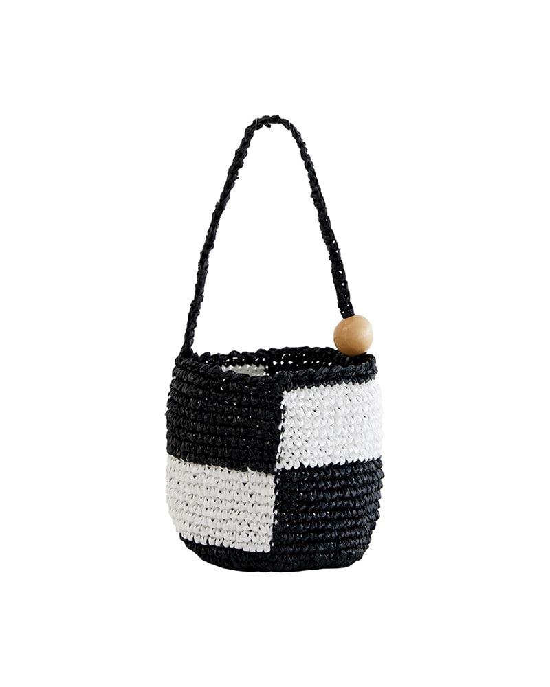 HOLLY LOVES LOVE-Cube bag_Black♡韓國女裝袋