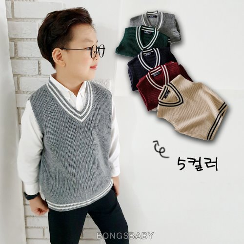 bongsbaby-니트조끼♡韓國童裝上衣
