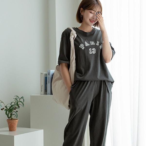 canmart-[부들레터링조거세트 C081103]♡韓國女裝套裝