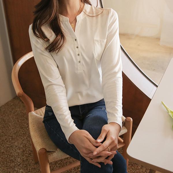 canmart-[엘리배색티셔츠 MA02062]♡韓國女裝上衣