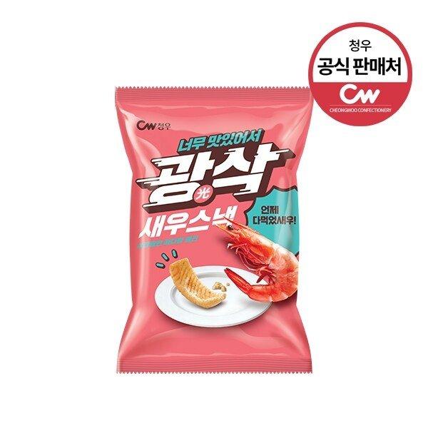 韓國CW鮮蝦味粟米脆片80g