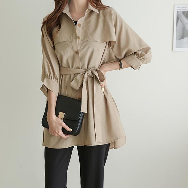 canmart-[라이나벨트자켓 C042025]♡韓國女裝外套
