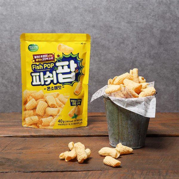 韓國 BADASORI 鮮味魚肉脆卷40g