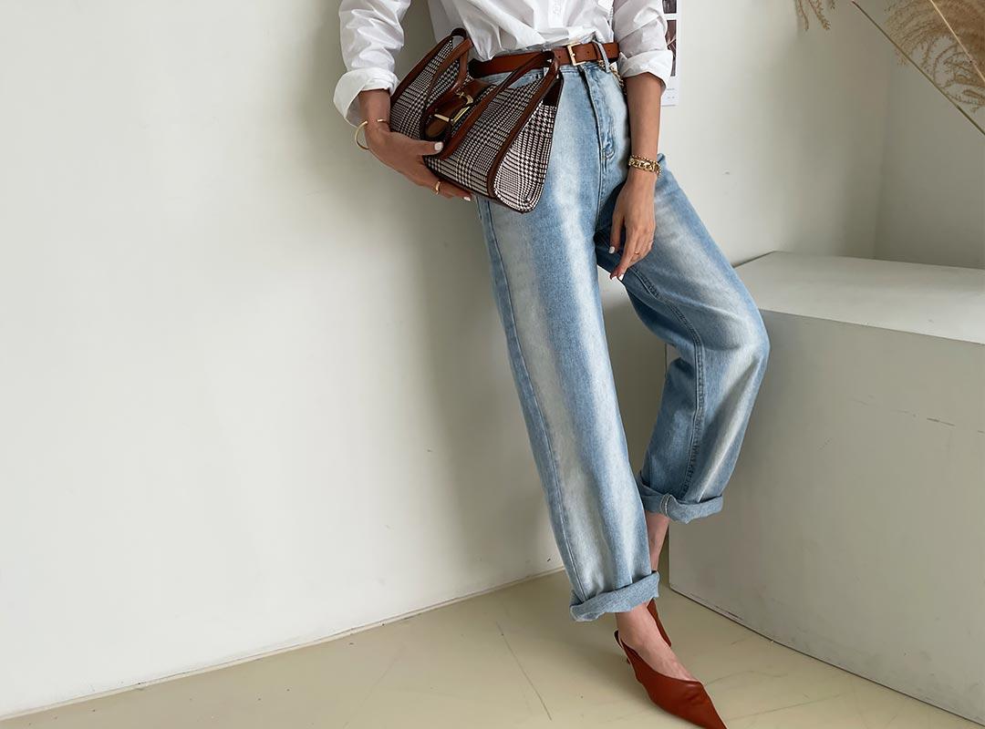 naning9-버테크 데님팬츠(C08)♡韓國女裝褲