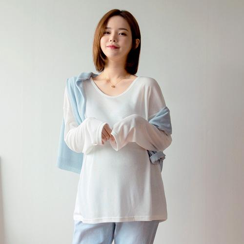 280days-[U골지루즈긴팔티]임부복 2 8 0 DAYS - 느낌있는 임부복쇼핑몰♡韓國孕婦裝上衣