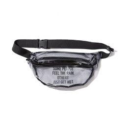 W.P.C. - 【K102-908】日本KiU防撥水透明網紋斜背包/腰包