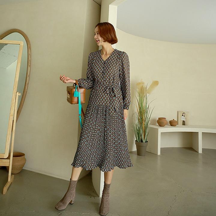 lemite-다야플리츠 원피스(끈세트)♡韓國女裝連身裙