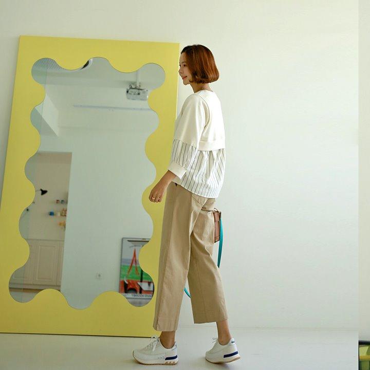 lemite-단배색 벌룬맨투맨♡韓國女裝上衣