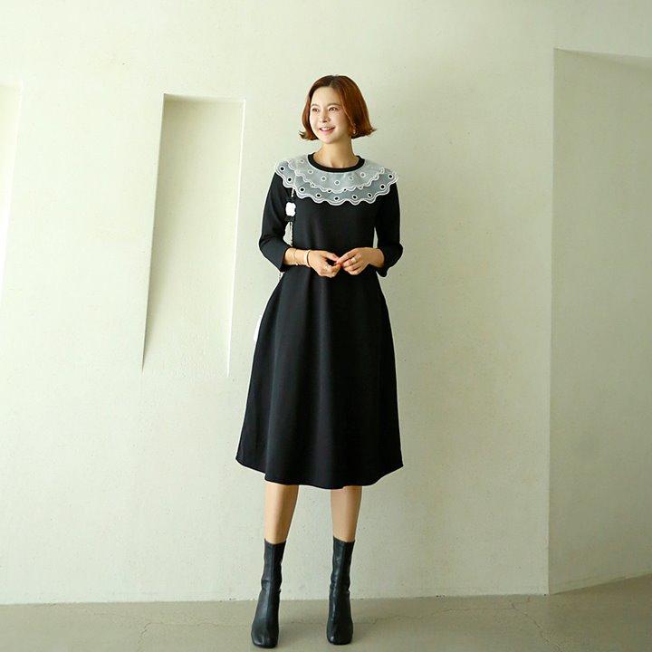 lemite-PL-화사한카라 원피스♡韓國女裝連身裙