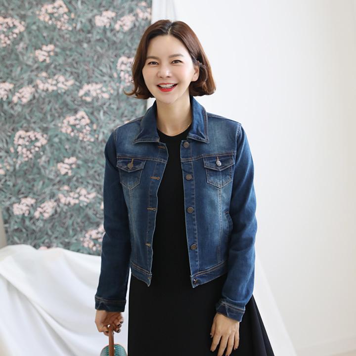 lemite-빈티 데님자켓♡韓國女裝外套