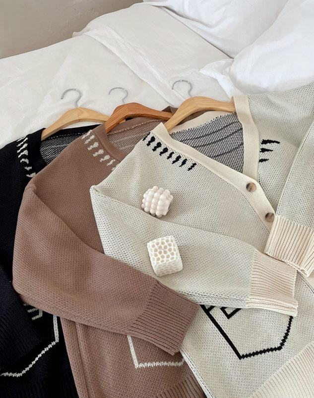 loloten-아이닉 브이가디건♡韓國女裝外套