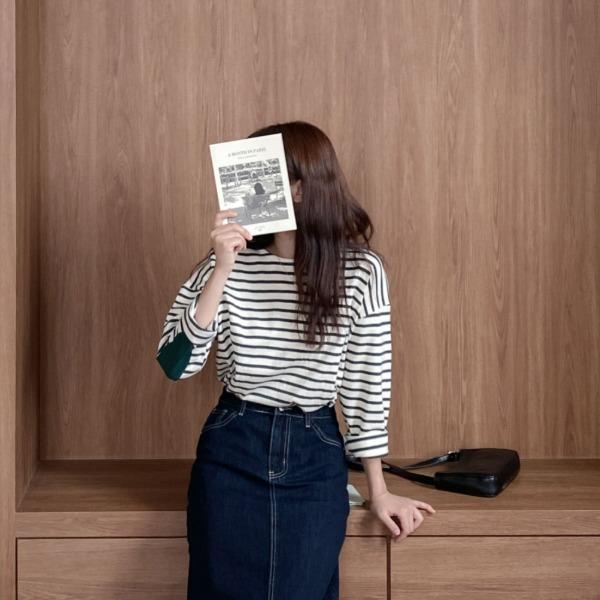 realcoco-♥NEW10%할인♥론다 스트라이프 티셔츠(데일리/베이직)♡韓國女裝上衣