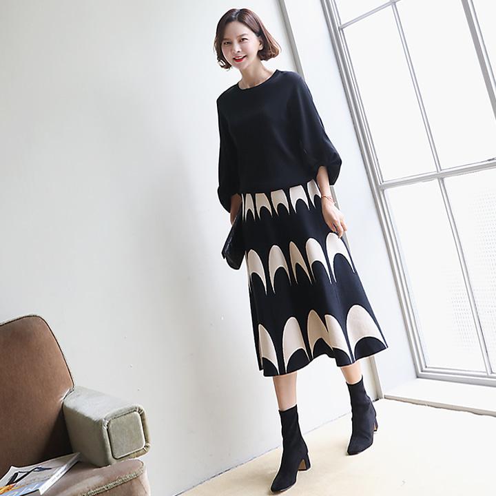 lemite-하프라운드 스커트♡韓國女裝裙