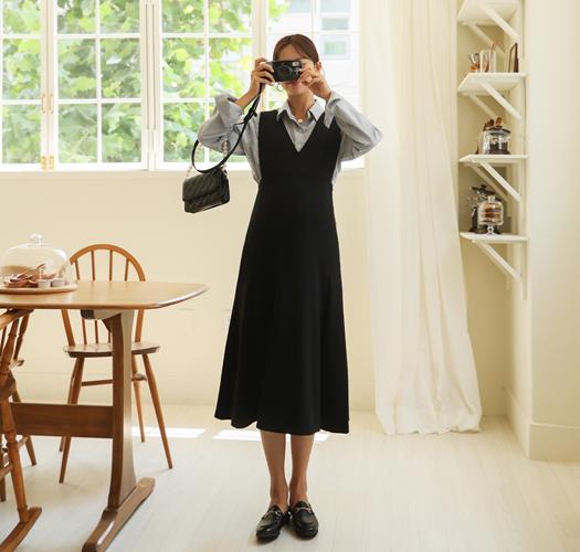 soim-[임부복*왕쫀득브이뷔스티에 임산부원피스]♡韓國孕婦裝連身裙