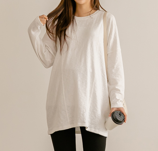soim-[임부복*슬랍루즈레이어드롱 임산부티셔츠]♡韓國孕婦裝上衣