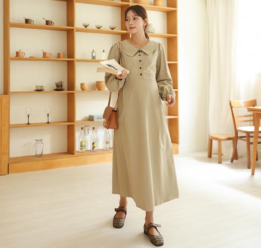 soim-[임부복*델라조절피치카라 임산부원피스]♡韓國孕婦裝連身裙
