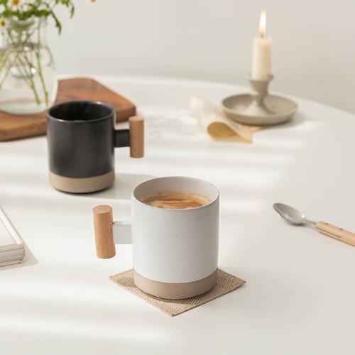 ssueim-木質把手馬克杯 (2color)♡韓國家品杯具